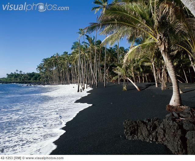 Kaimu Black Sand Beach Kalapana Hawaii
