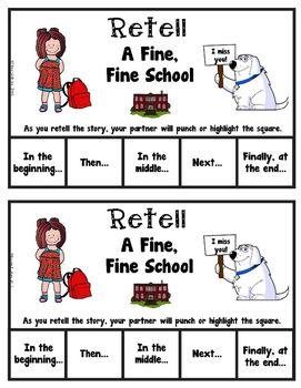Book It Retell It Write It Make It A Fine Fine School
