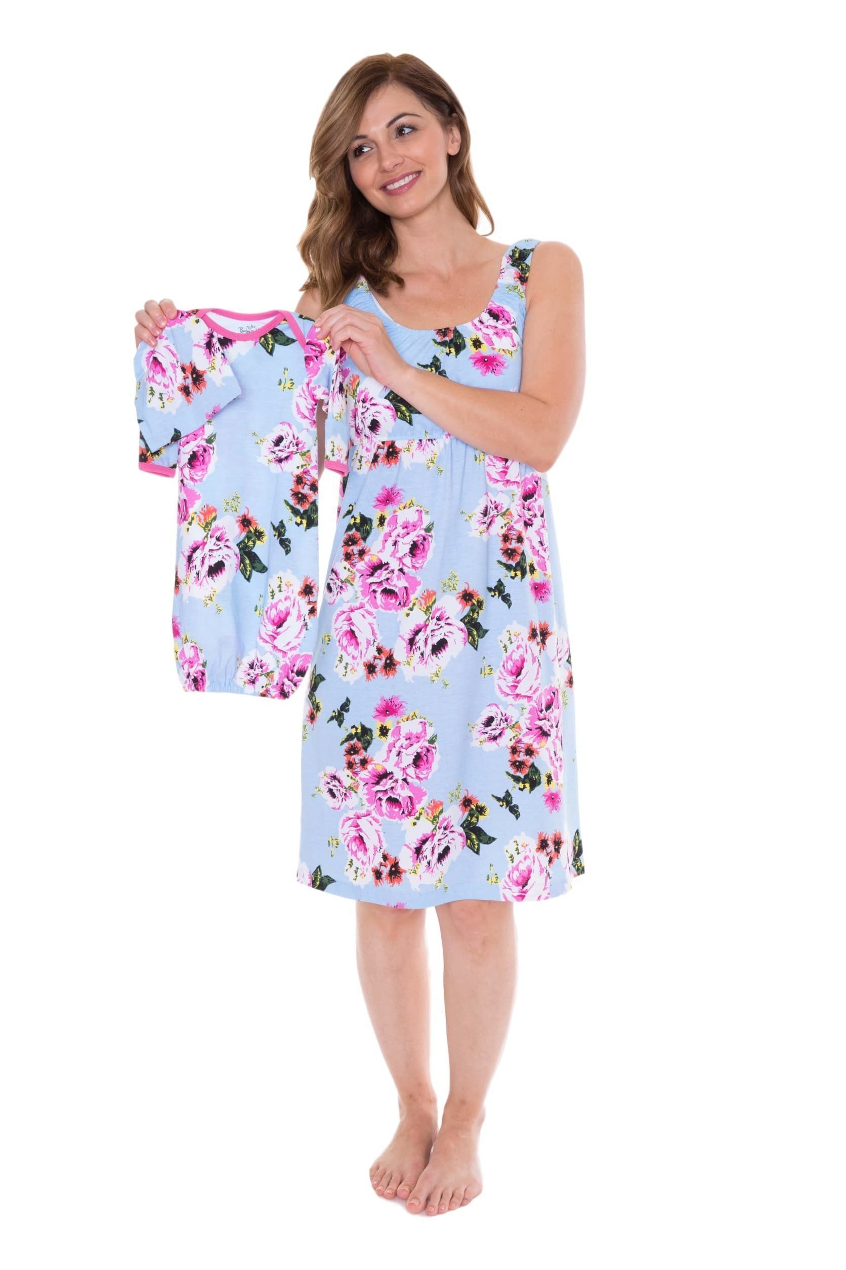 ac22ede746e67 Isla Maternity/Nursing Nightgown & Matching Baby Receiving Gown Set  #babynightgowns