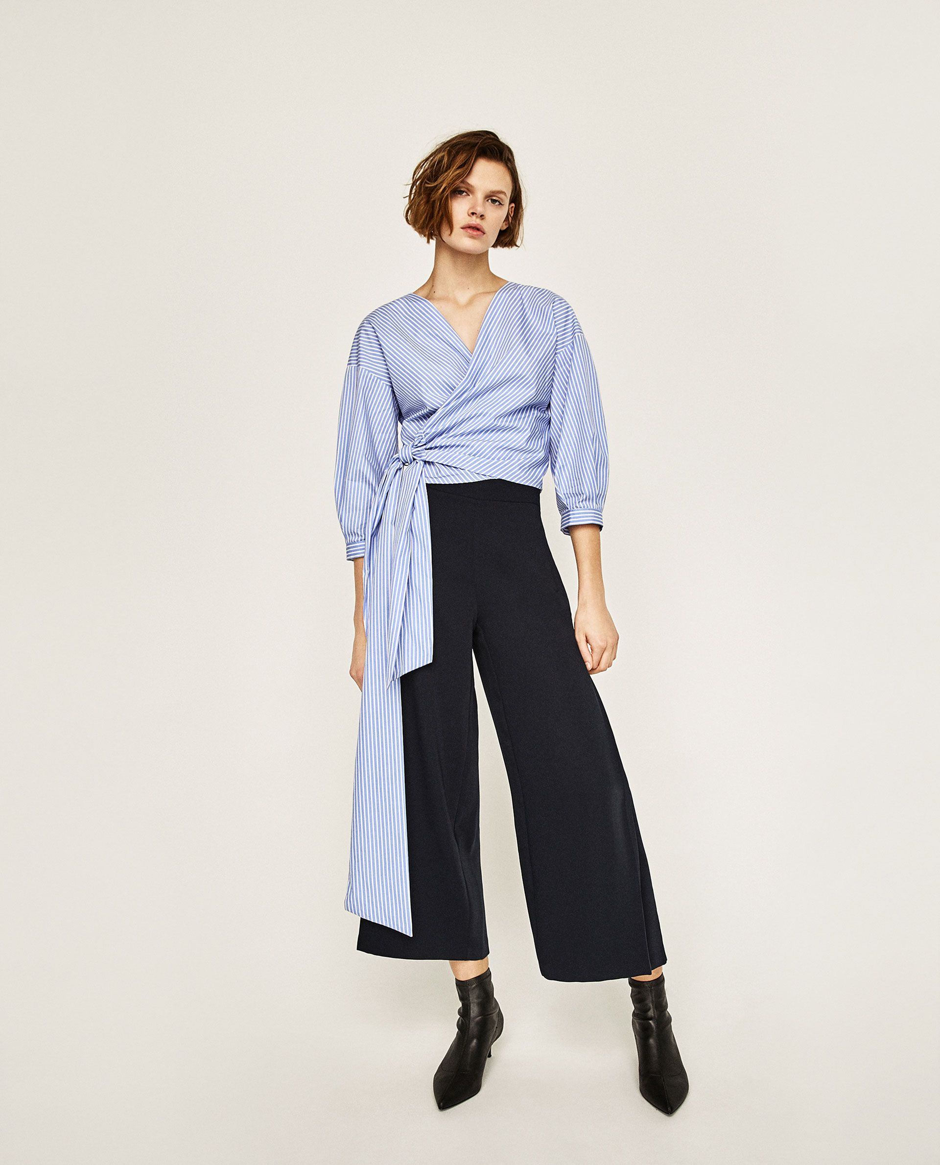 d17e7c36 Image 1 of PLEATED CULOTTES from Zara | Fashion | Trousers women ...