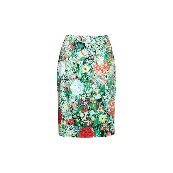 JIGSAW | New Arrivals - Printed floral pencil skirt ($185) via Polyvore