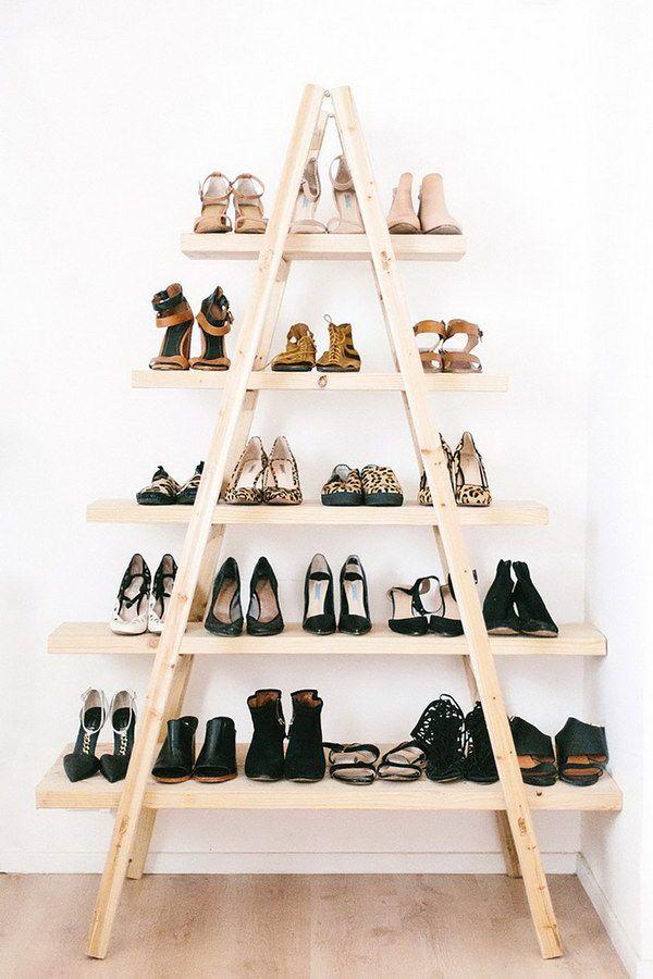 Diy Shoe Ladder Shelves Home Diy Room Diy Diy Furniture