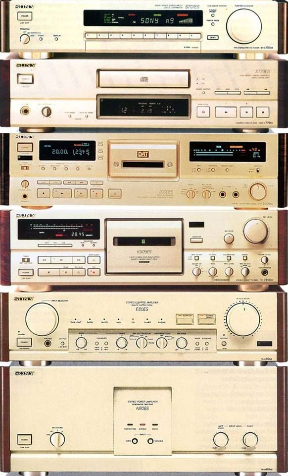 1992 Sony ES stack