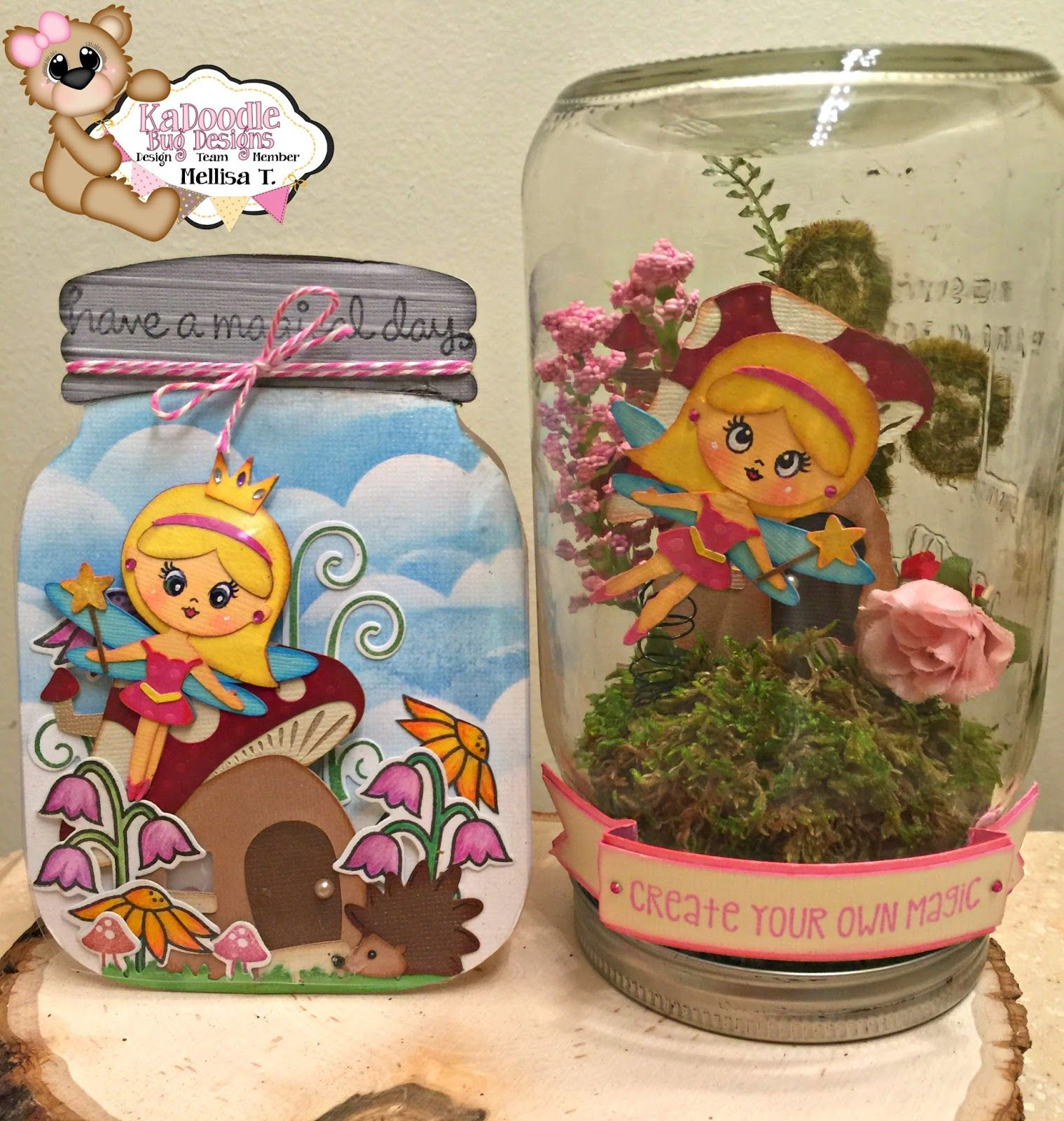 Scrappy Chic Creations Fairy In A Jar
