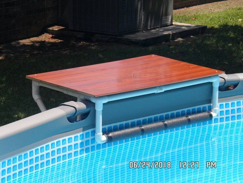 Aboveground Pool Table Drink Tray Pool Caddy Swimming Accessories Father S Day Gifts Pool Decks In 2021 Pool Landscaping Backyard Pool Landscaping Above Ground Pool Landscaping