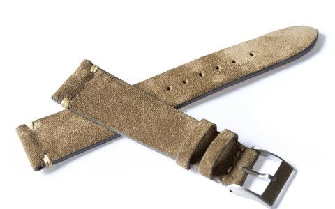 550393e8771 HODINKEE - Shop Luxury Timepiece Accessories - Light Brown Suede Strap