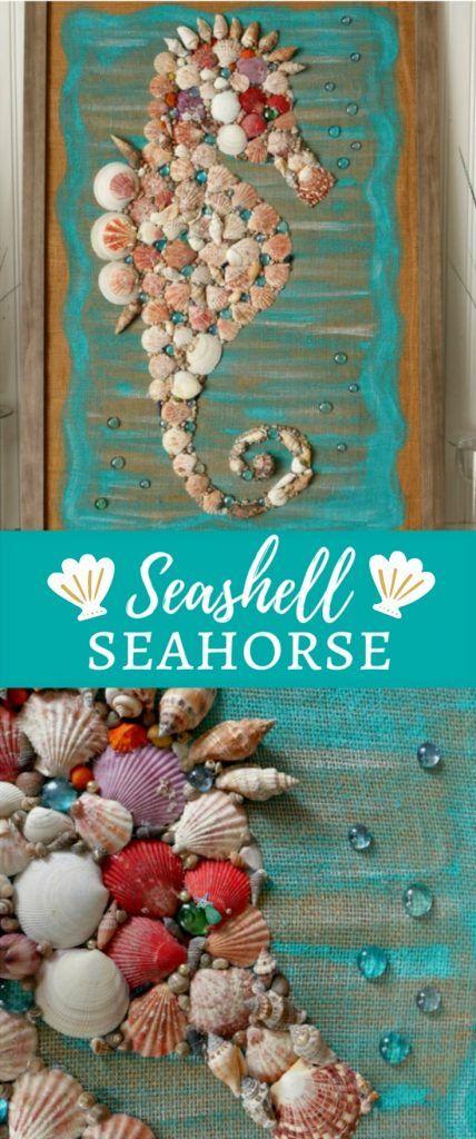 Diy Giant Seashell Seahorse Coastal Beach Wall Art With Images
