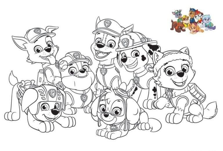 Ausmalbilder Paw Patrol Ausmalbilder Paw Patrol Charaktere Paw