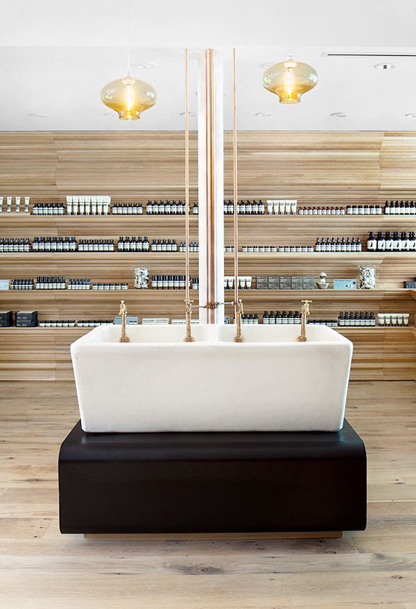Aesop Hair And Skin Care Shop On Newbury Street In Boston Designed By William O