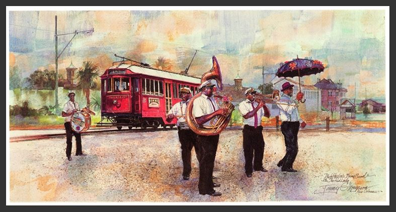 Riverfront Ramble by Tommy G. Thompson ~ New Orleans art