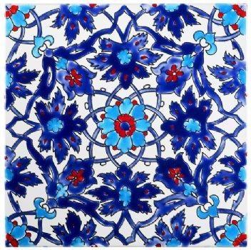 Spanish Kitchen Blue Tile Backspalsh