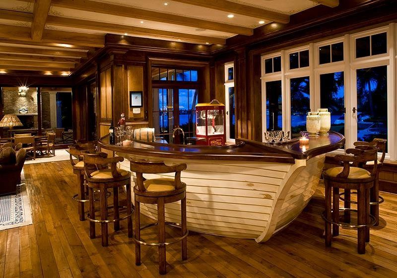 Wonderful Unique Bar Home Bar Traditional With Custom Boat Bar