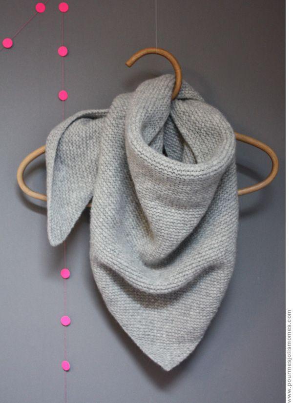 0f855c324d1 pour réaliser THE Trendy Chale    env 200g 230g de mélange alpaga ou  n importe quelle laine qui se tricote avec des aiguilles  5    le tout au  point mousse ...