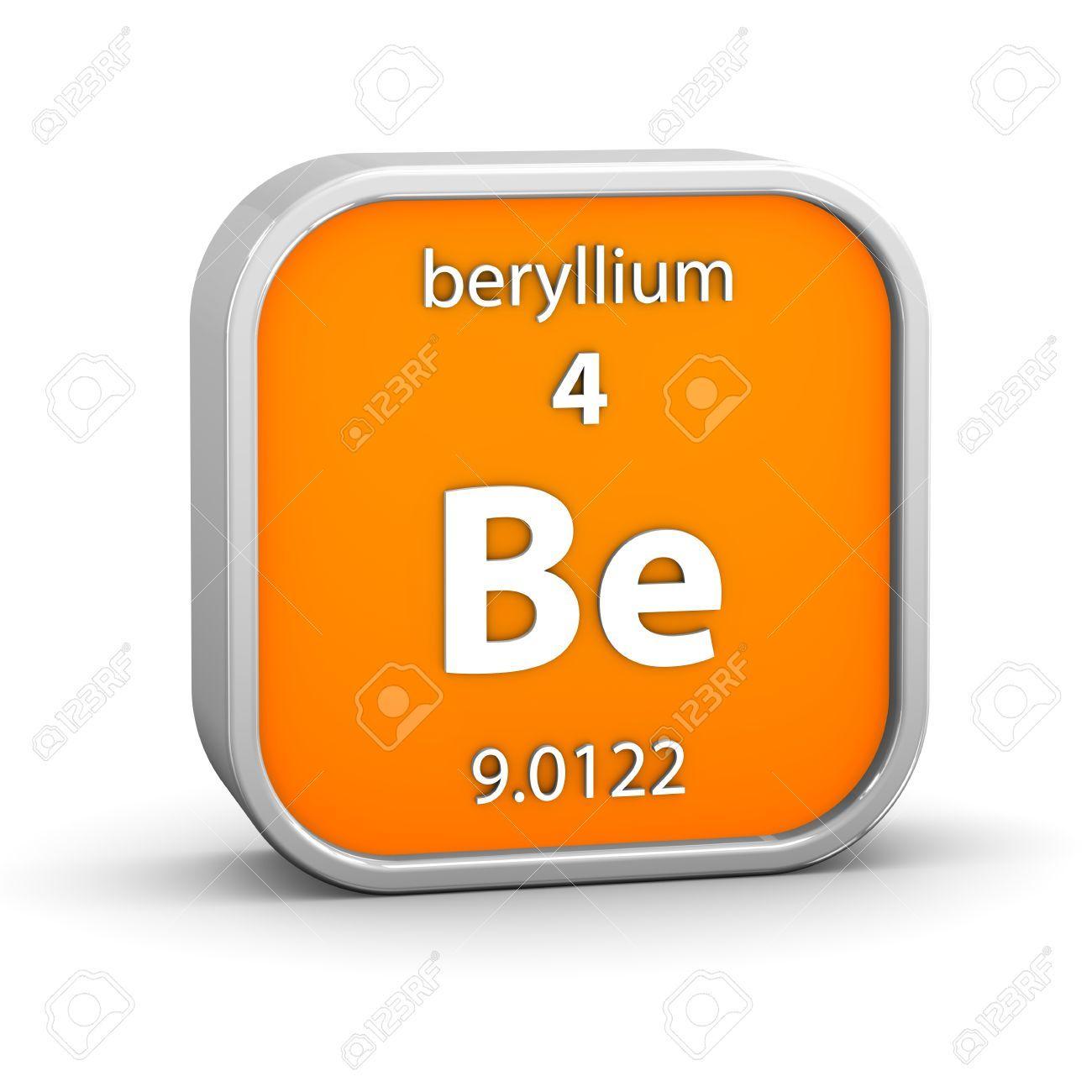 Materiales qumicos berilio be beryllium elementos quimicos berilio material en la tabla peridica parte de una serie urtaz Choice Image
