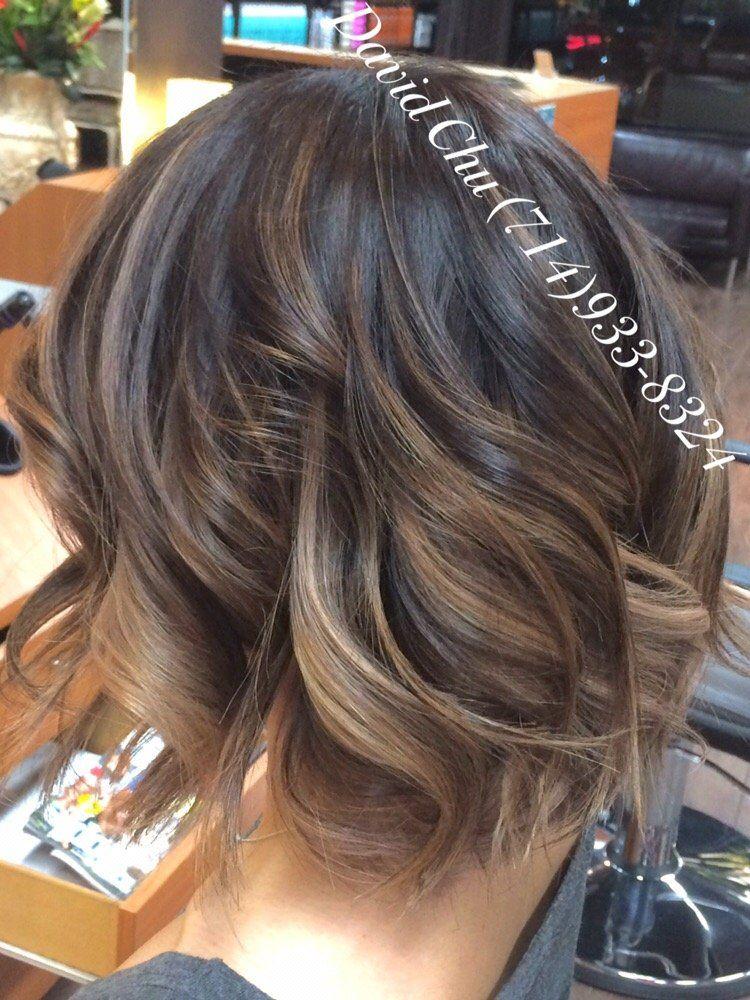 Ash blonde brown balayage ombr yelp hair color for Balayage braun blond