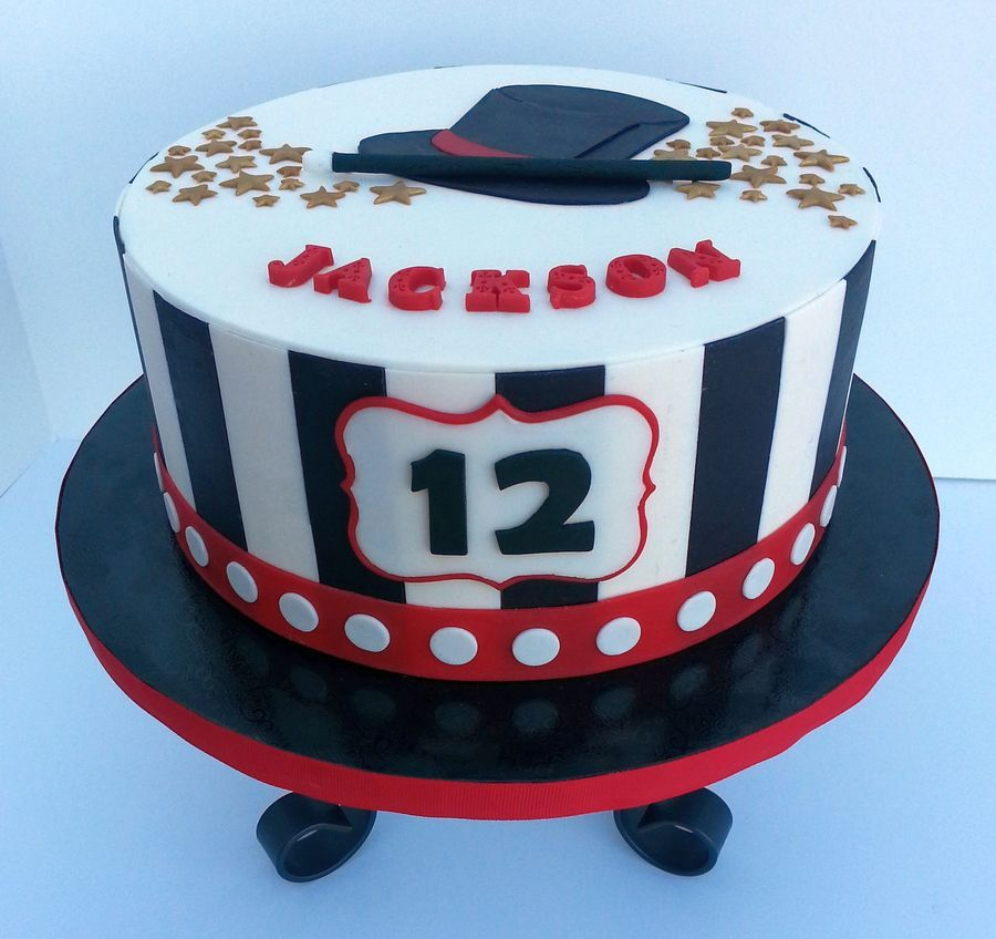 Cake For Magic Themed Birthday Party Decorated With Candy Clay