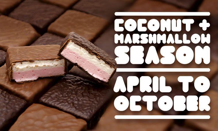 Haigh coconut marshmallow food chocolate box eat