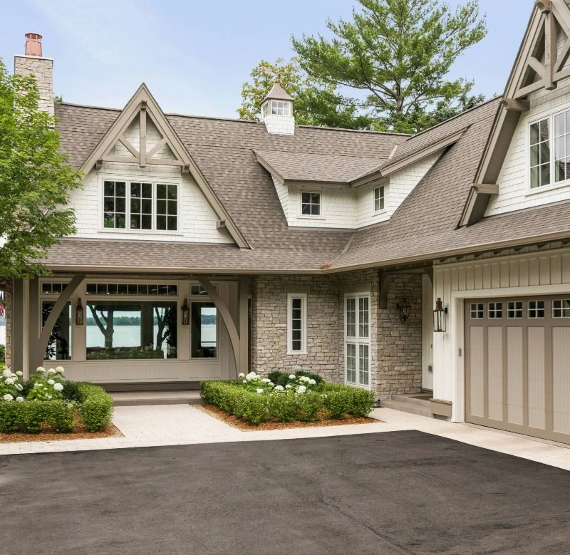 Best Lake Minnetonka Equestrian Influence Gaf Timberline Weathered Wood Aspen Hills Natural Stone 400 x 300