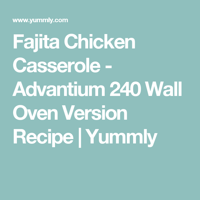 Ge advantium 240 recipes with chicken