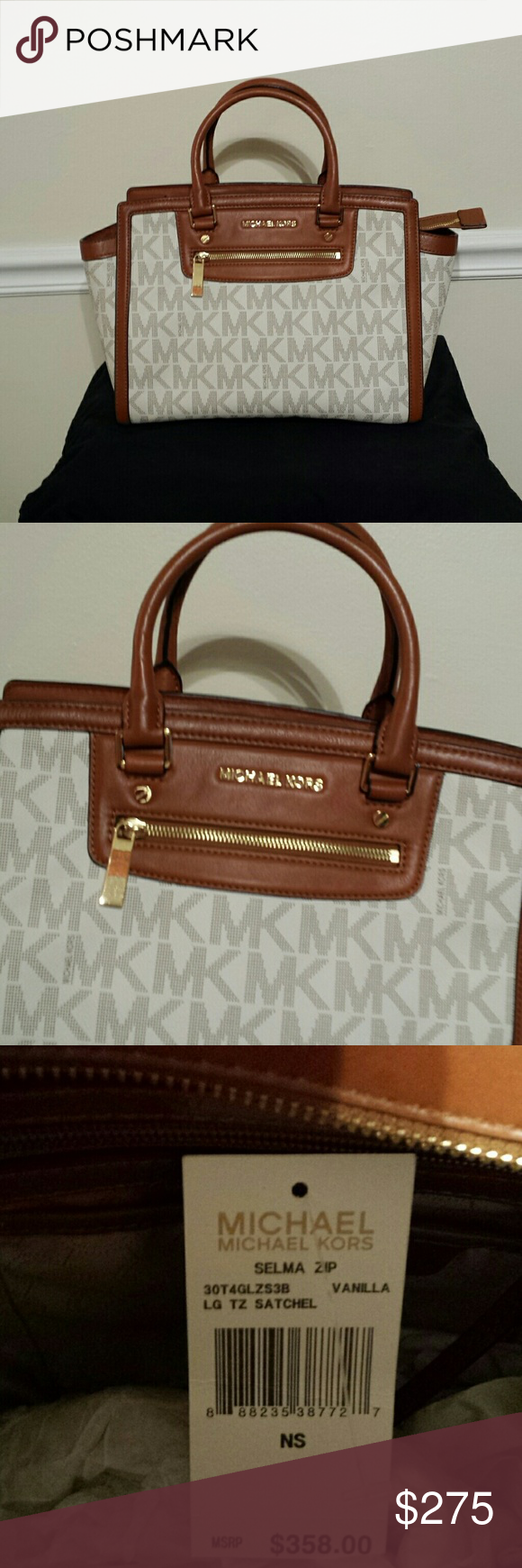 6a8fb067690b Michael Kors Tote · Crossbody Bag · BEAUTIFUL LARGE MK SELMA ZIP LARGE  SATCHEL Bring out a bold look with this gorgeous satchel