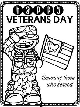 Veterans Day Color Page holiday Veterans day coloring