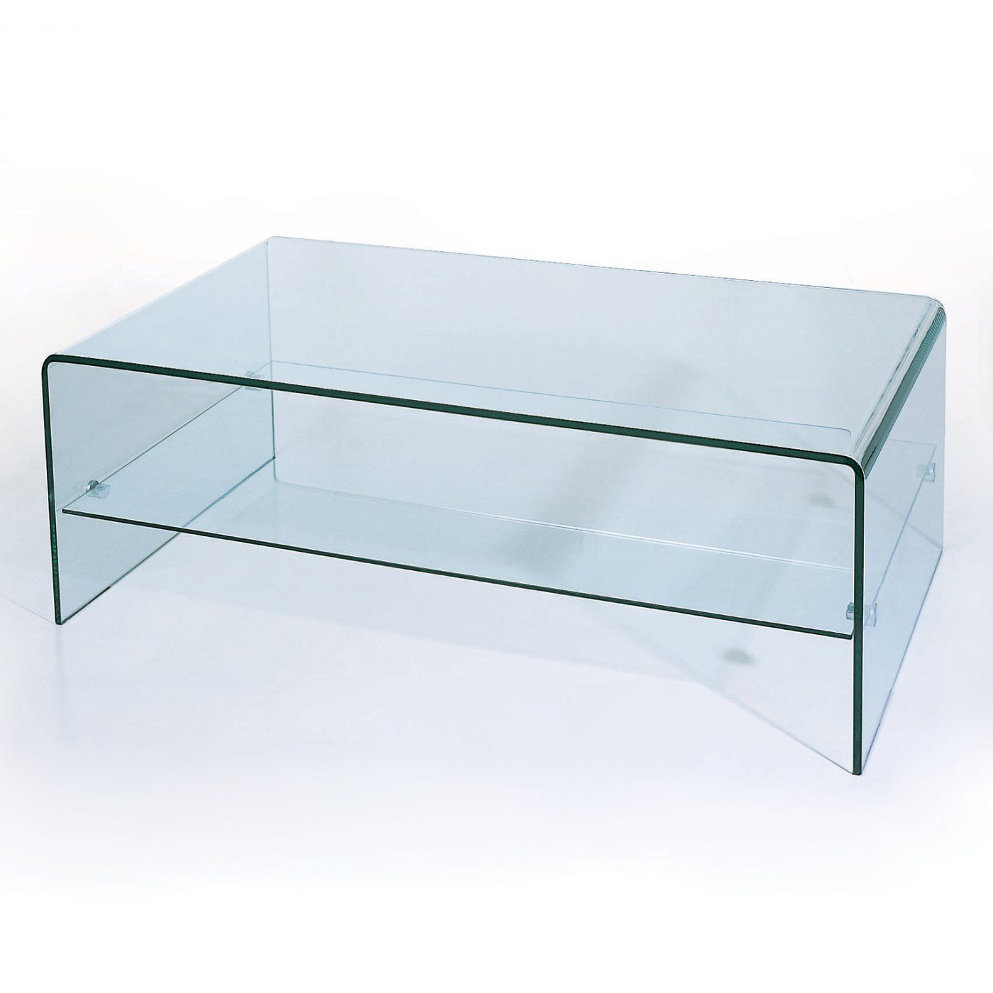 BH Design C26 Waterfall Bent Glass Coffee Table $448 36 16 5