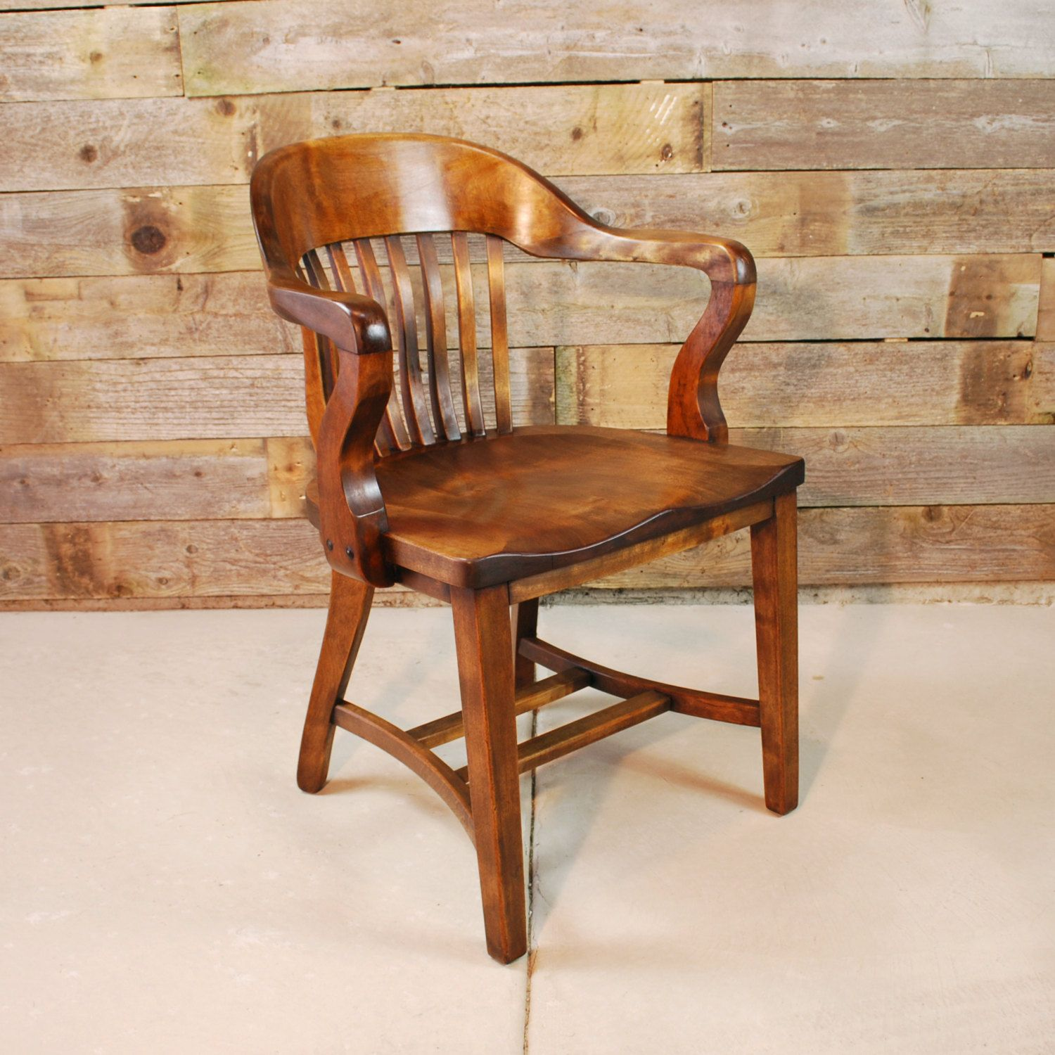 Solid Walnut Banker S Chair Bankers Chair Chair Solid Walnut