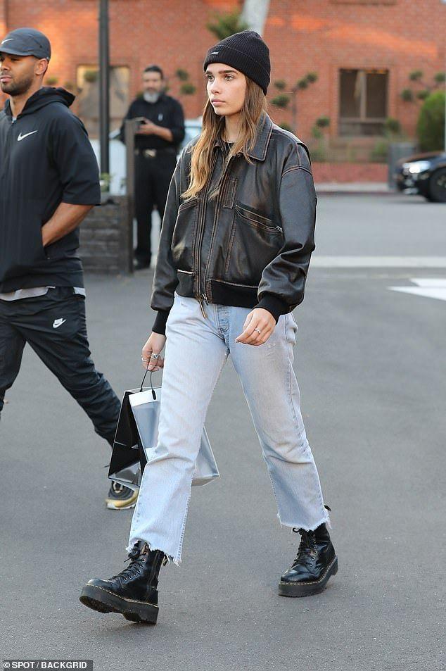 Brooklyn Beckham takes model girlfriend Hana Cross