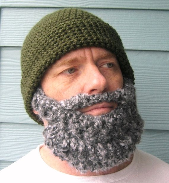 PATTERN Beard PATTERN Beanie Santa Claus Hat by SimplyCollectible ...