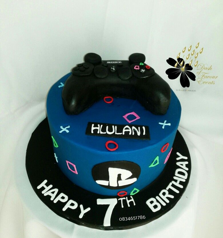 Play Station Themed Cake Boy Birthday Cake Video Game Party
