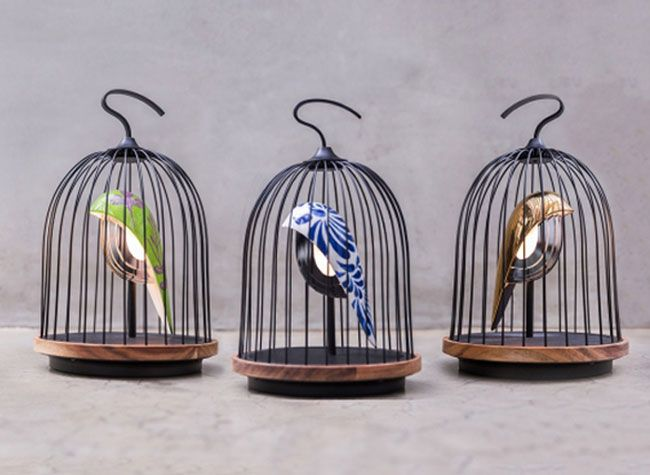 jingoo lampe connectee bluetooth oiseau cage 3 choses et bricoles pinterest lampe. Black Bedroom Furniture Sets. Home Design Ideas