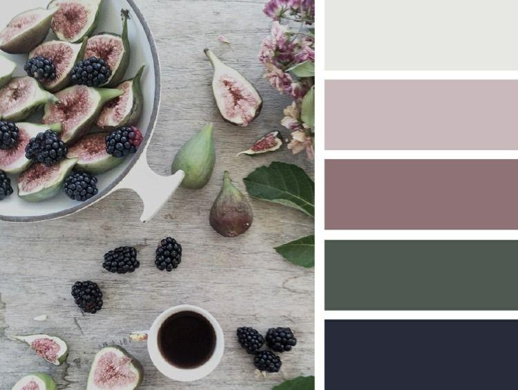 Die farbe l sst sich mit verschiedenen nuancen und farben kombinieren farben pinterest - Wandfarbe mauve ...