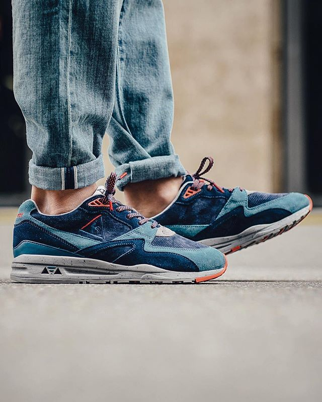 0c8b96437 le coq sportif R800 90'S Outdoor 'Dress Blue/Tigerlily' | Kicks ...