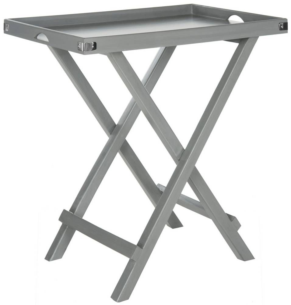 Dalia Tray Table Grey A Sleek Silhouette Gives The Fashionable Its Chic Modern Edge Slim Lip Top And Cross Style Base Are