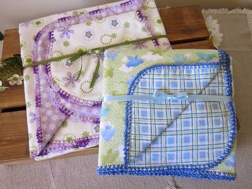 Miss Abigail's Hope Chest: Crochet Edged Baby Blankets