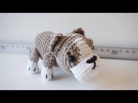 Patrón gratis amigurumi de perro bulldog de Canal Crochet ...