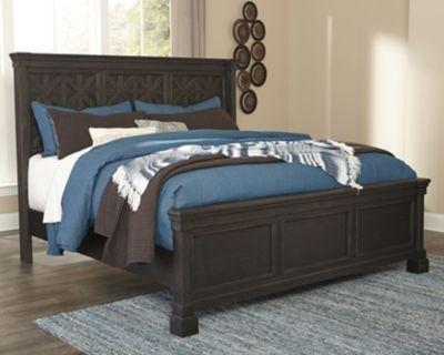tyler creek queen panel bed black gray products panel bed bed rh pinterest com
