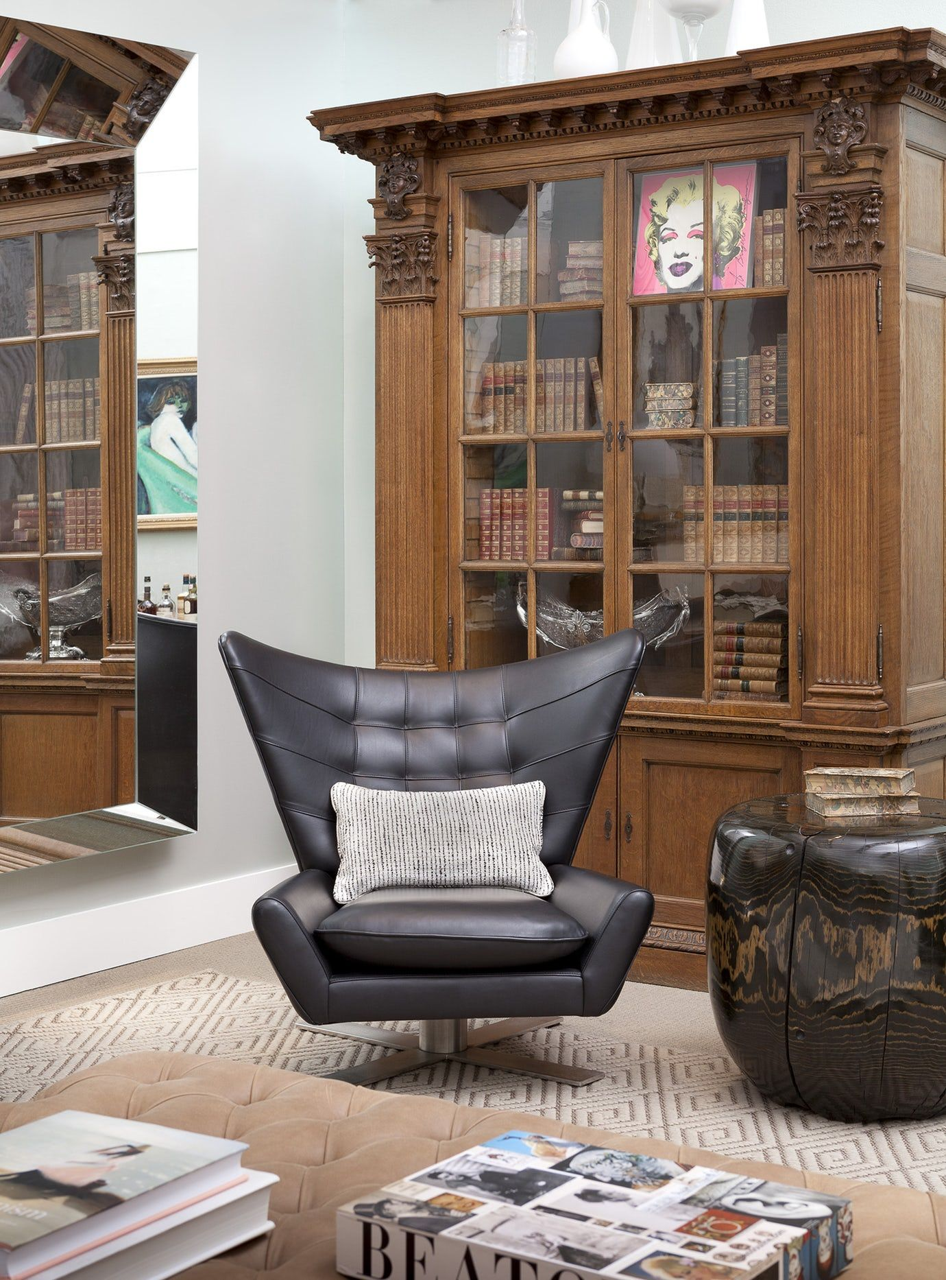 Sothebys Designer Show House Library Family Room Contemporary Modern Eclectic