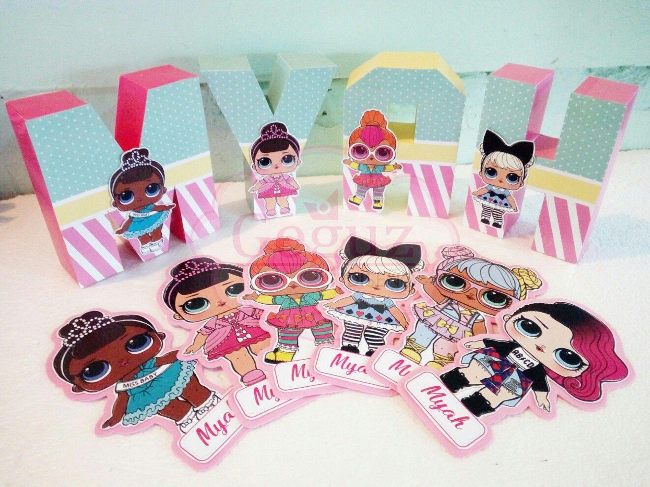 Lol Surprise Birthday Decor Candy Bar Bag Box Toppers Sticker Banner Garland Souvenir Favors 3d Letters Centerpiece Lol Dolls Doll Party Lol