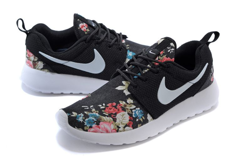 Shop Hot Nike Roshe Run Shoes from nike top ten store with Fast Shipping  And Easy Returns Floral Pattern Nike WMNS Roshe Run Supremo Customs Red  Pink Black ...