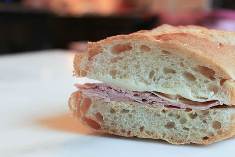 French Style Ham & Gruyere Cheese Baguette Sandwich