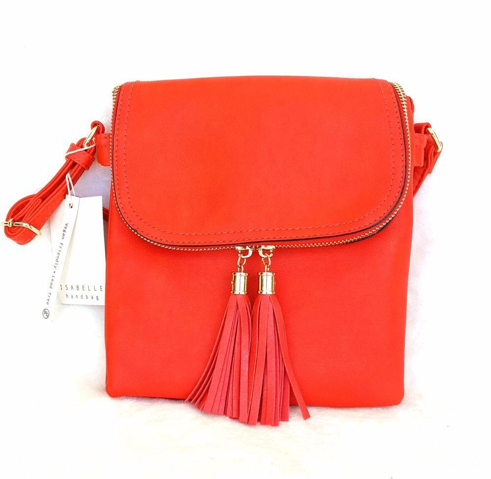 Women S Crossbody C Orange Satchel Purse By Isabelle Handbag Isabellehandbag Messengercrossbody