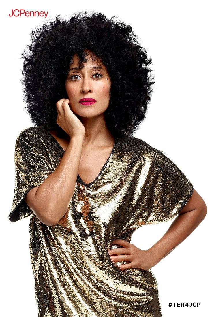 60d720295b Find some in this holiday dress from Tracee Ellis Ross for JCPenney.  Reversible sequins go from black to gold in this easy dress that is as  comfortable as ...