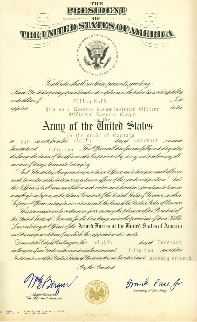 U S Army Officer Promotion Certificate Pertaining To Officer Promotion Certificate Template Certificate Template Certificate Templates Professional Templates