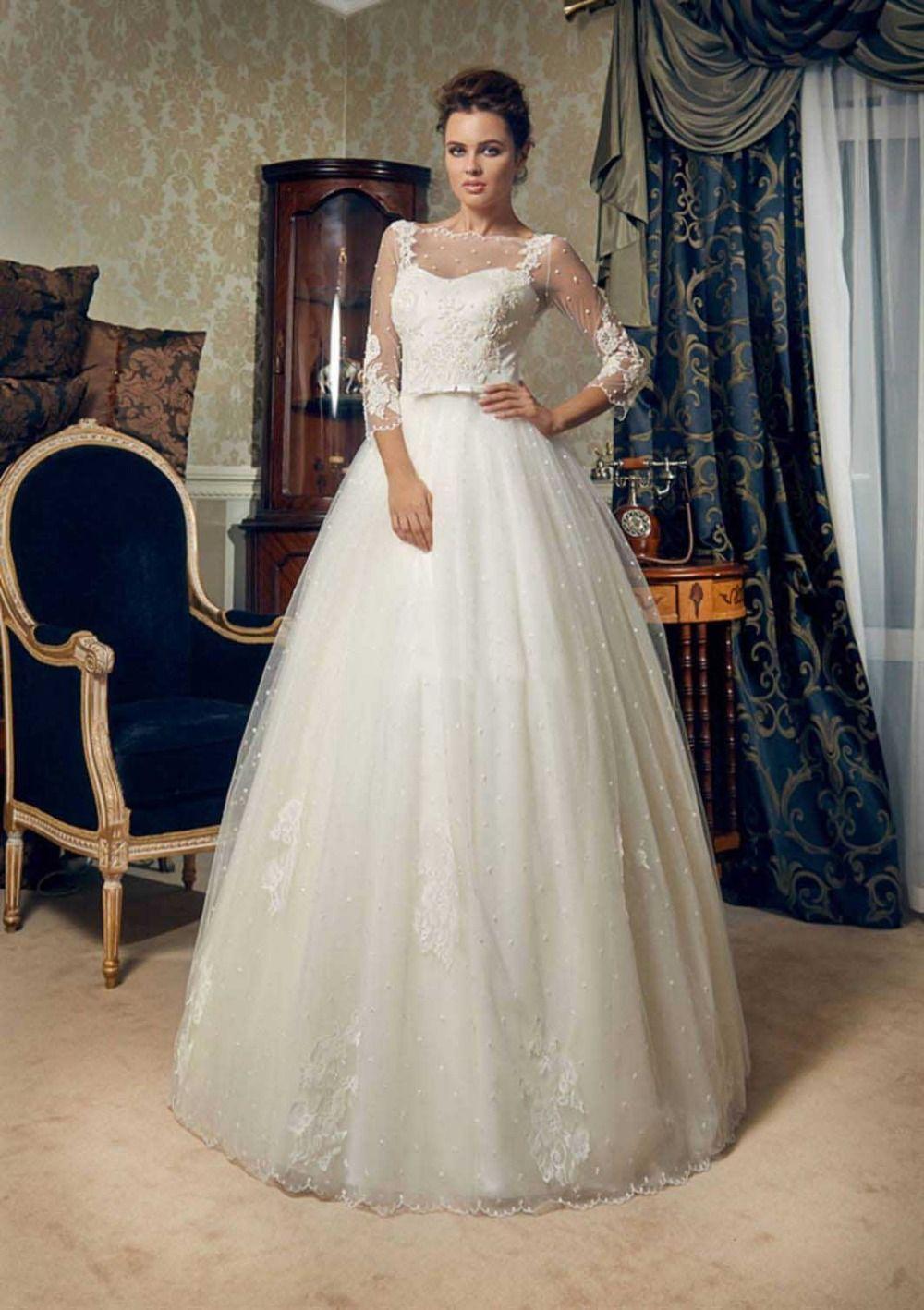 nice Выбираем элегантные пышные свадебные платья (50 фото ...