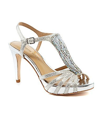 31400e892d52b By far the most comfortable dress shoe brand I ve ever worn ! Antonio  Melani Nadelle Platform Jeweled Dress Sandals  Dillards