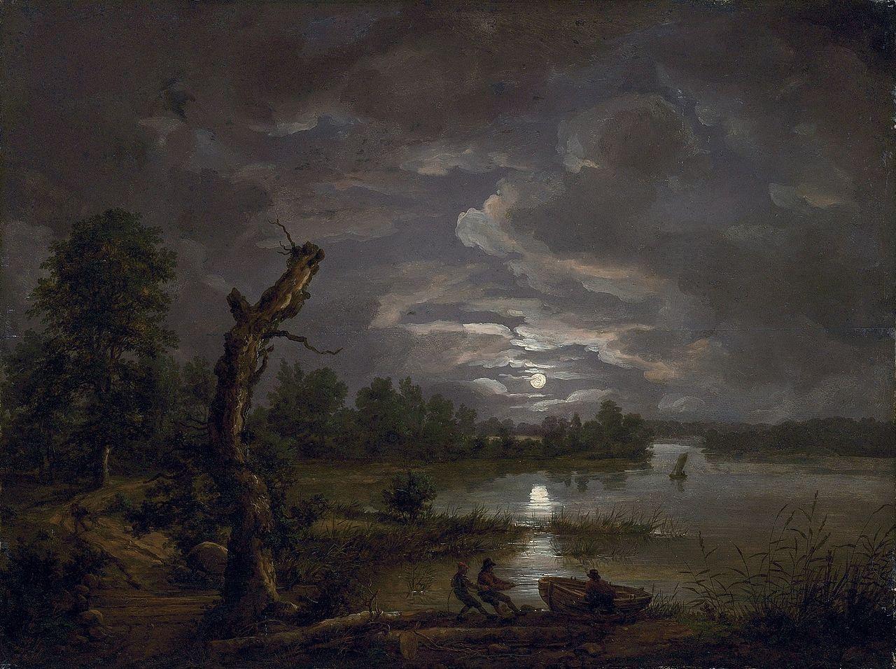 Lake Esrom By Moonlight JCC Dahl  Johan Christian Dahl - Christian museums in the usa