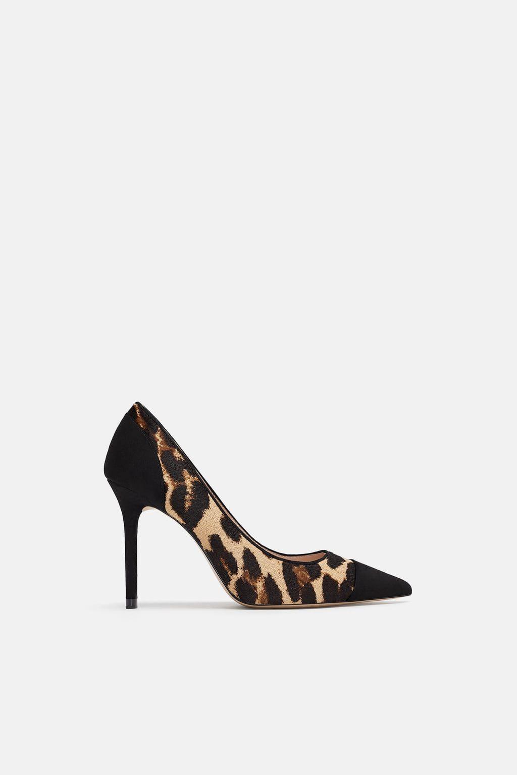Animal print shoes heels