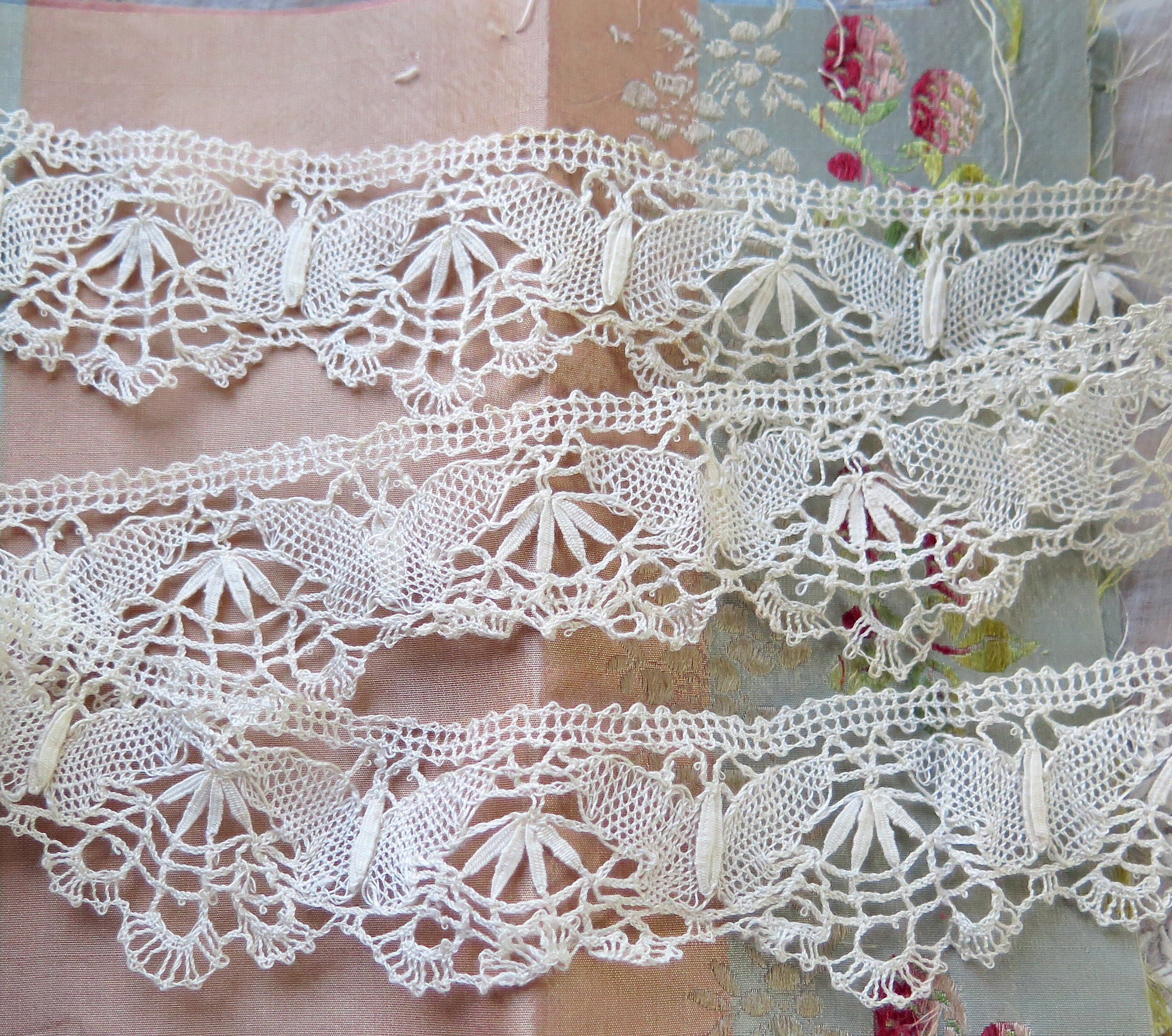 Excited To Share The Latest Addition To My Etsy Shop Antique Cluny Bobbin Lace Trim With Butterfly Motif 2 6 Yards Handmade Handmade Lace Bobbin Lace