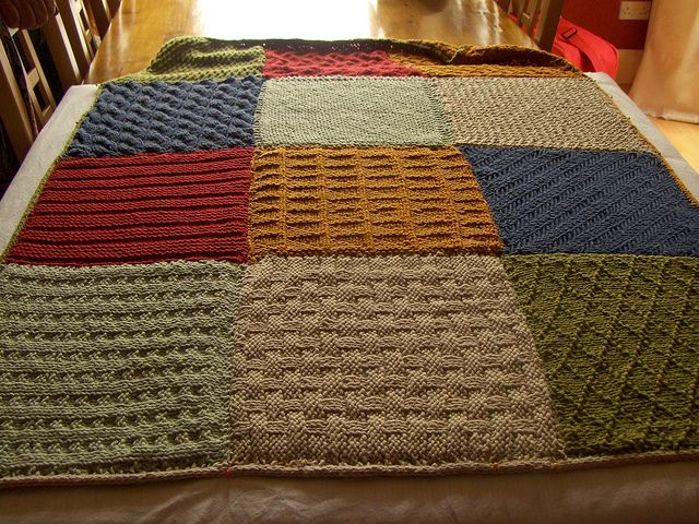 Knitted squares blanket | Knitting - Afghans, Blankets ...